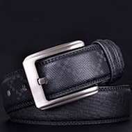 Full Men's Grain Leather Casual Belt