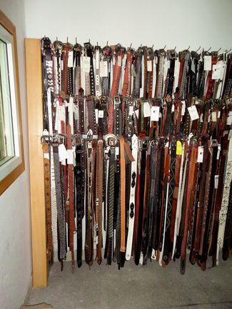 Leather belts Showroom
